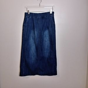 CJ Banks Denim Skirt